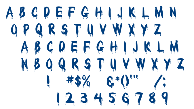 Wet Paint font