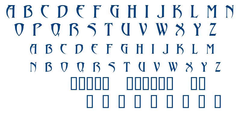 Abaddon font