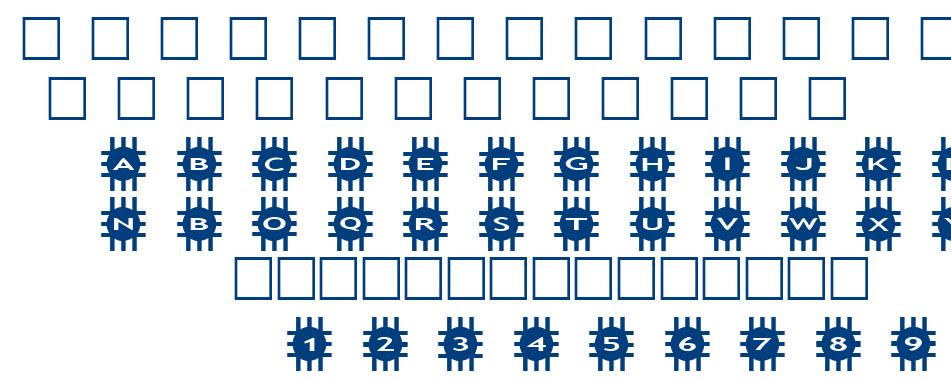 alphashapes grids font