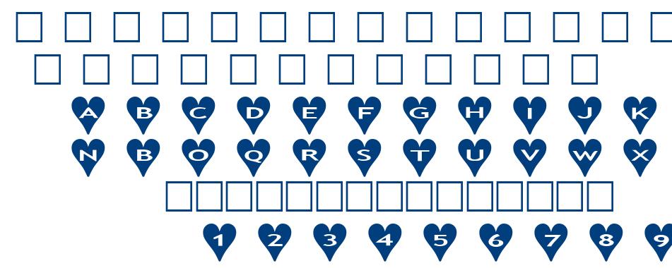 alphashapes hearts font