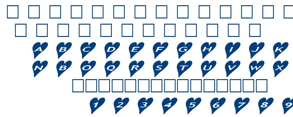 alphashapes hearts 2 font