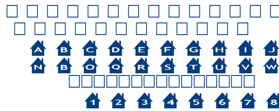 alphashapes houses font