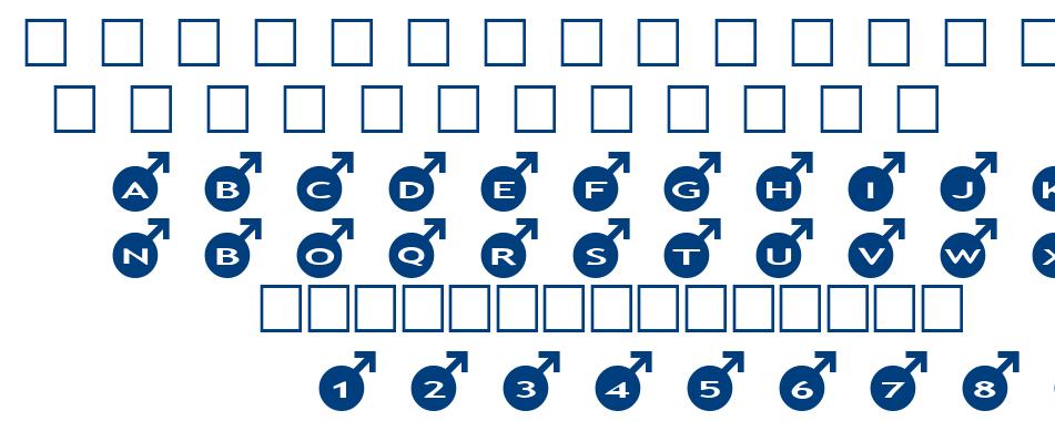 alphashapes male font