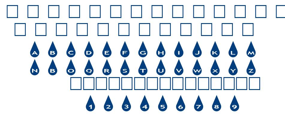 alphashapes raindrops font