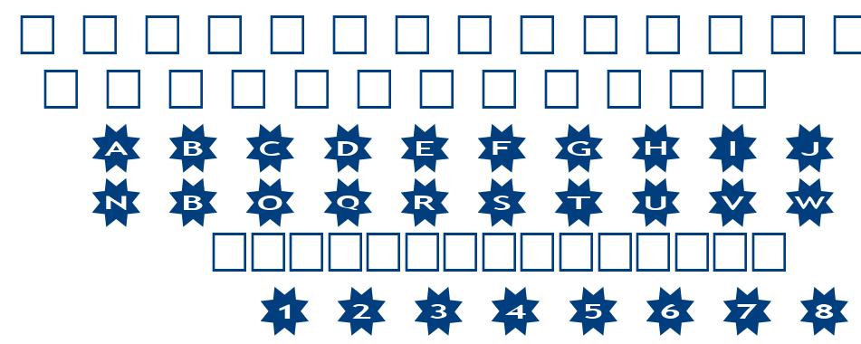 alphaahapes stars 3 font
