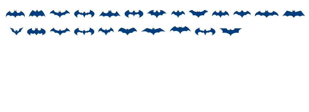 BATMAN LOGO EVOLUTION TFB font