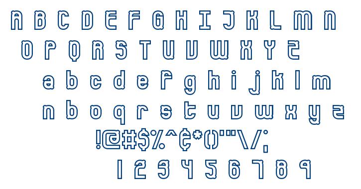 Bumped font