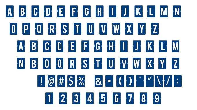 Calendar Note TFB font