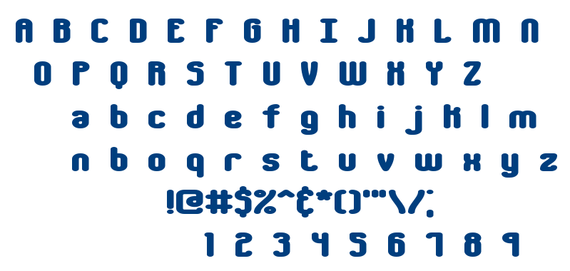 Chumbly BRK font