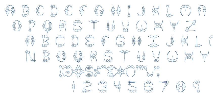 Claw font