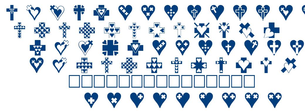 Crosses n Hearts font