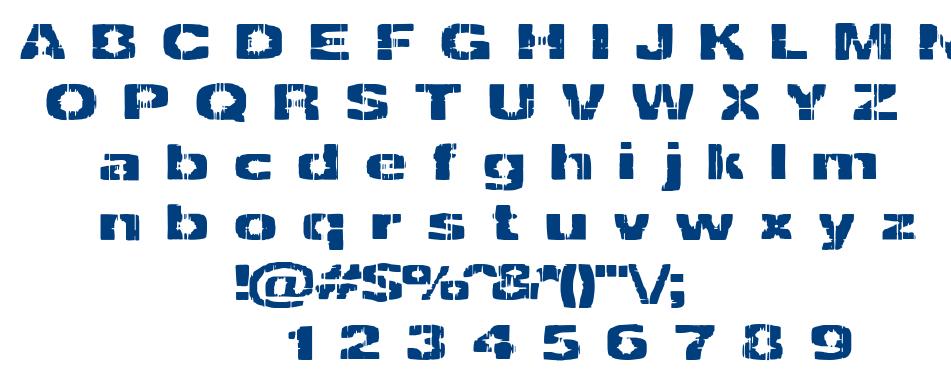 Decrepit font