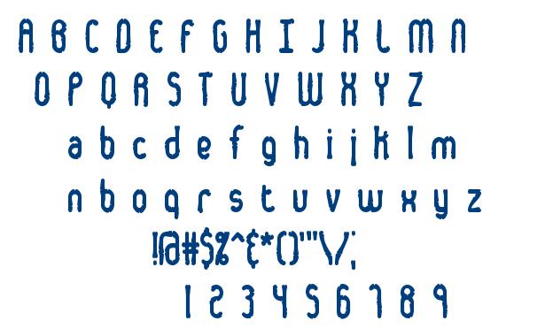 Dented font