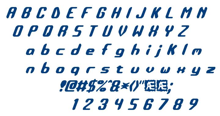 Detonate BRK font