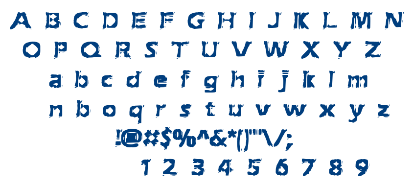 Extraction BRK font