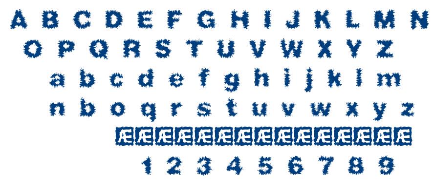 Frizzed BRK font