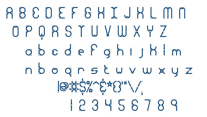 Granular font