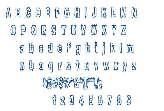 Hack & Slash BRK font