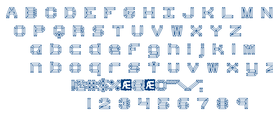 Heavy Bevel font
