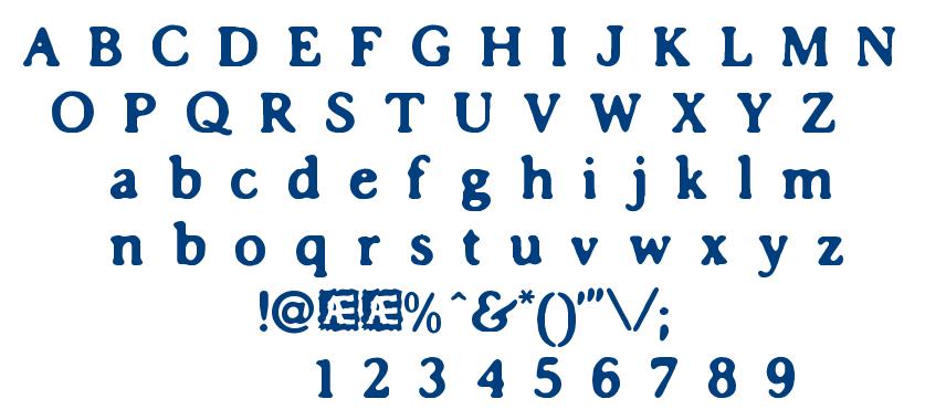 Impossibilium BRK font