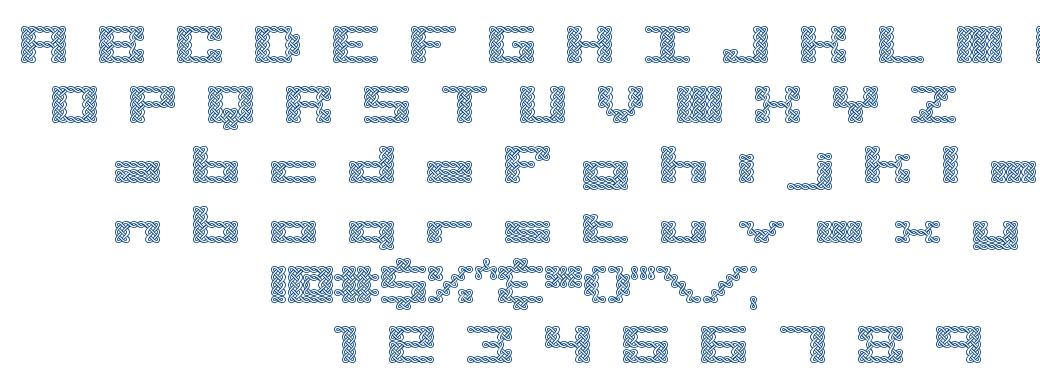 Knot BRK font