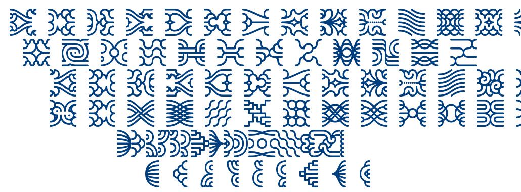 Line Dings BRK font