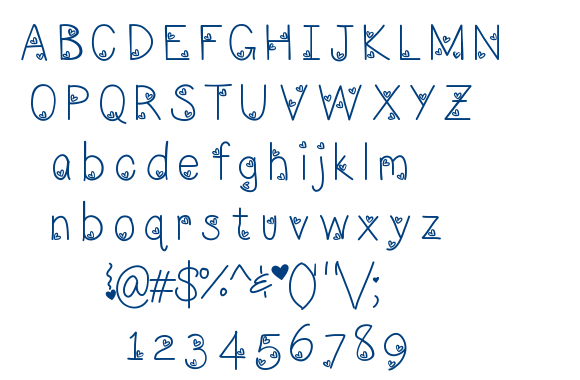 LoveNess Three[ font