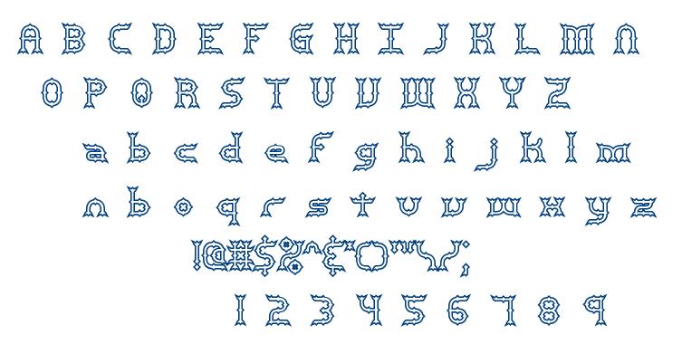 Mincer BRK font