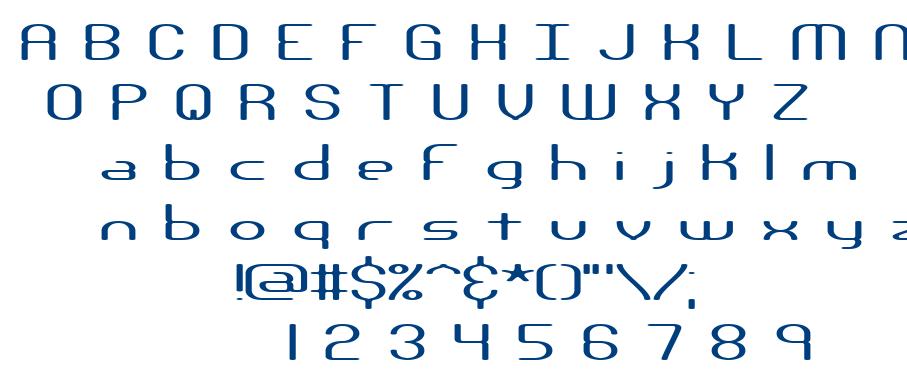 Nanosecond font