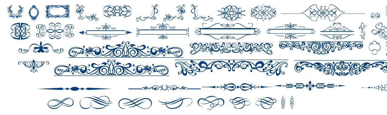 Ornaments Labels and Frames font
