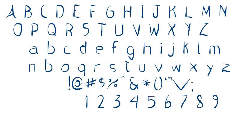 Pincel handwrite font