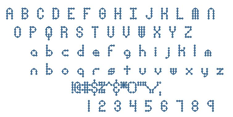 Pindown BRK font