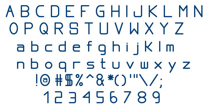 Proportional TFB font