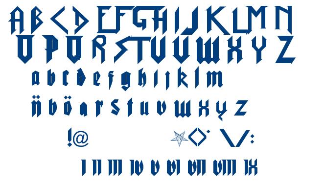 Pure Evil 2 font