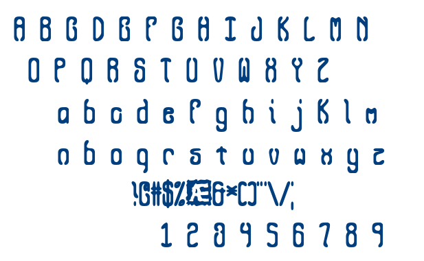 Queasy BRK font