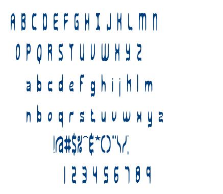 Sarcastic BRK font