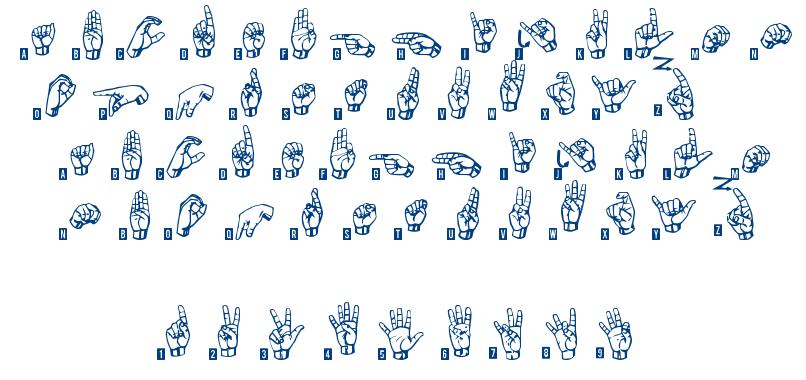 Signs Language TFB font