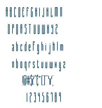 Slender BRK font