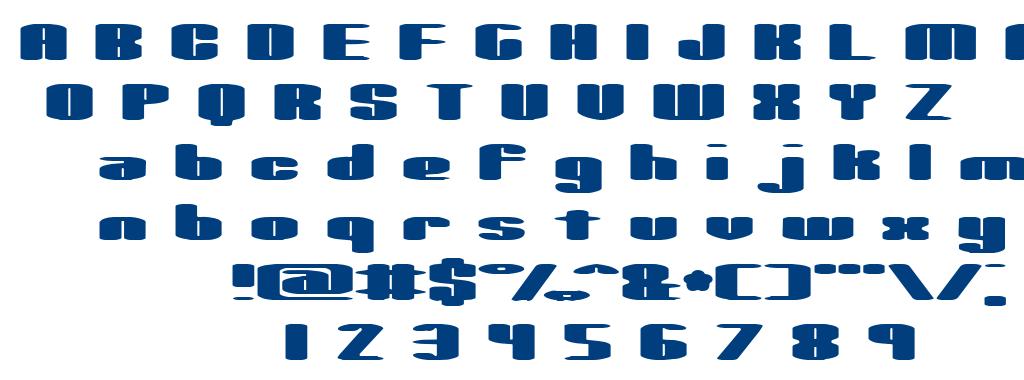 Spacious BRK font