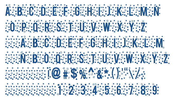 Stars TFB font