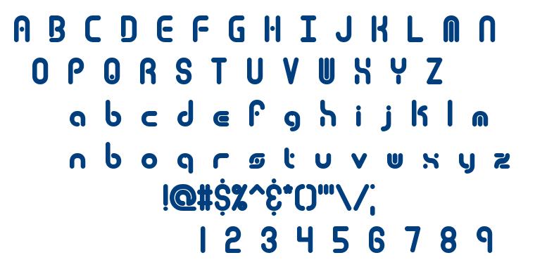 Techno Overload font