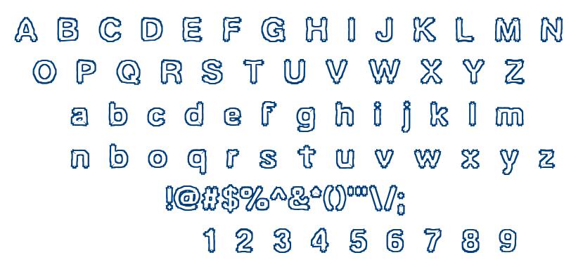 Ubiquity BRK font