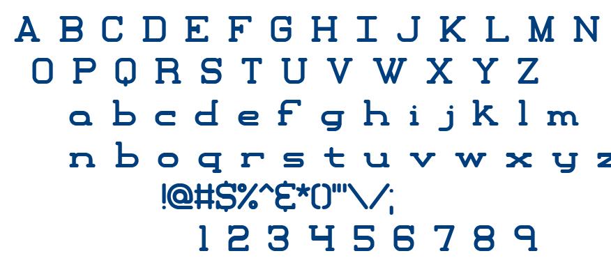 Xipital BRK font