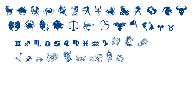 Zodiac TFB font