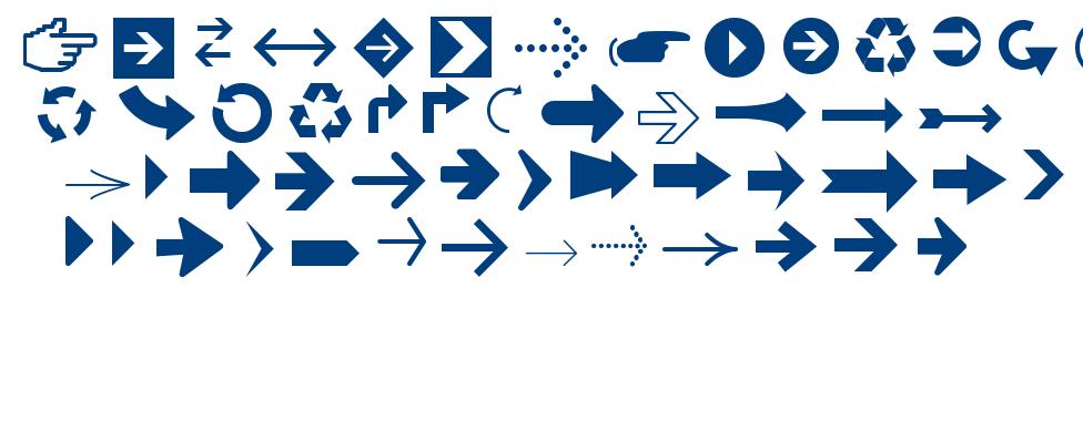 Arrows TFB font