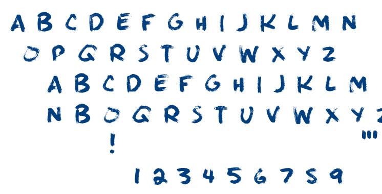 Brushie Brushie font