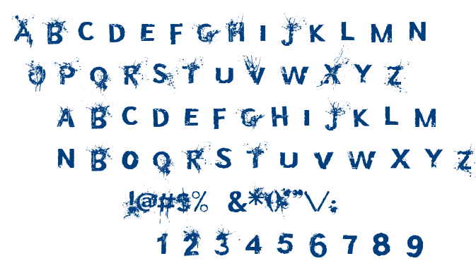Bullet In Your Head font