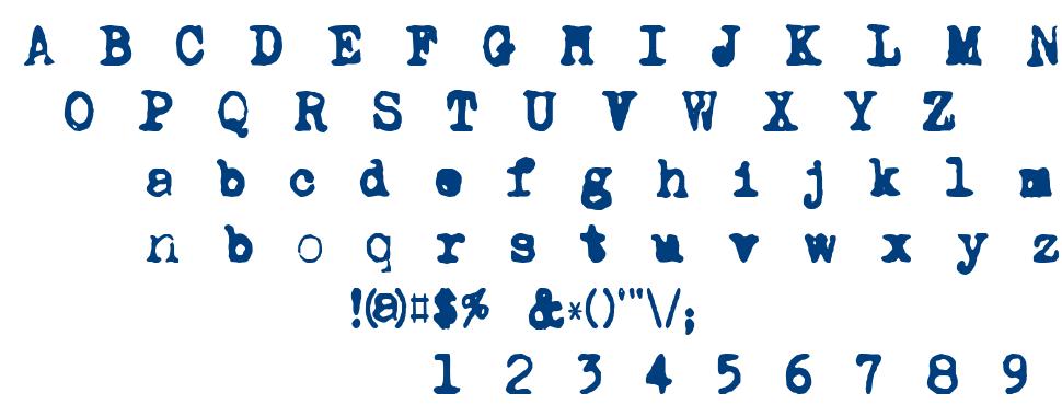DK Carbonara font
