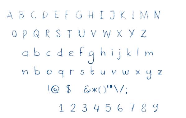 DK Crayonista font