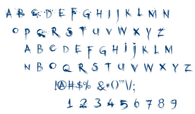 DK Kubikajiri font